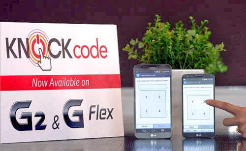 LG G2, G Flex, Knock Code, LG knock code