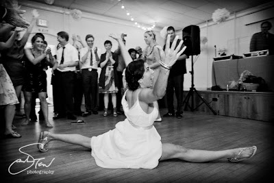 Old Lady Doing the Splits http://joannagoddard.blogspot.com/2011/10/12-unforgettable-wedding-moments.html