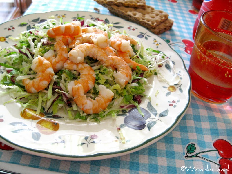 Wonderland Cookings: Fresh shrimp salad