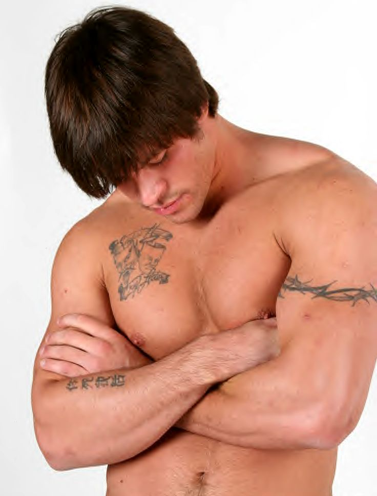 Tattoo muscle hunk gay porn