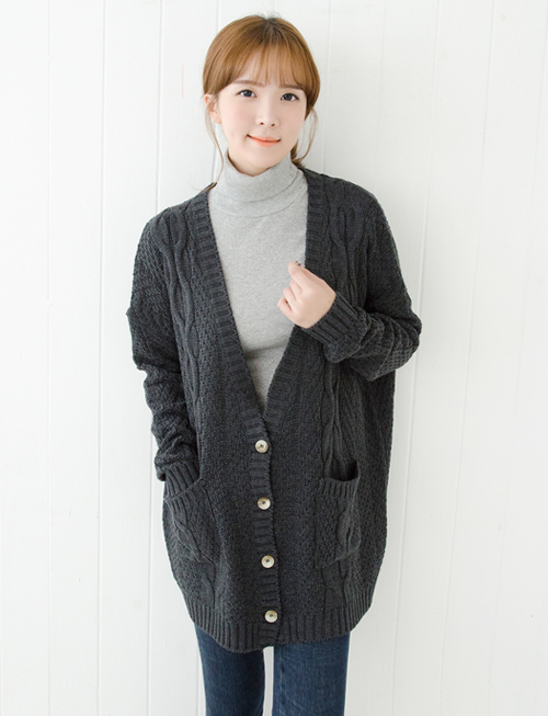 Cookie 7's Loose Fit Twirled Cardigan