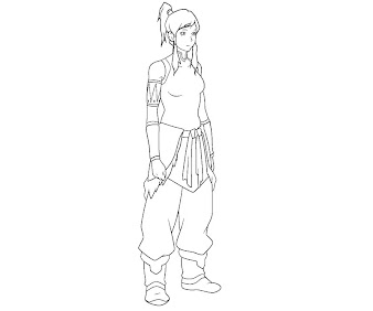 #13 Korra Coloring Page