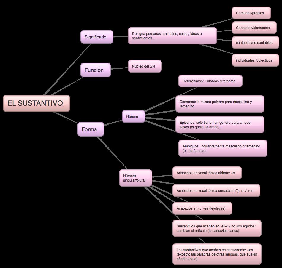 el sustantivo:  forma, función y significado.