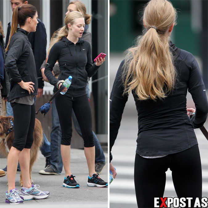 Amanda Seyfried e Jennifer Carpenter jogging em New York - 24 de Outubro de 2012