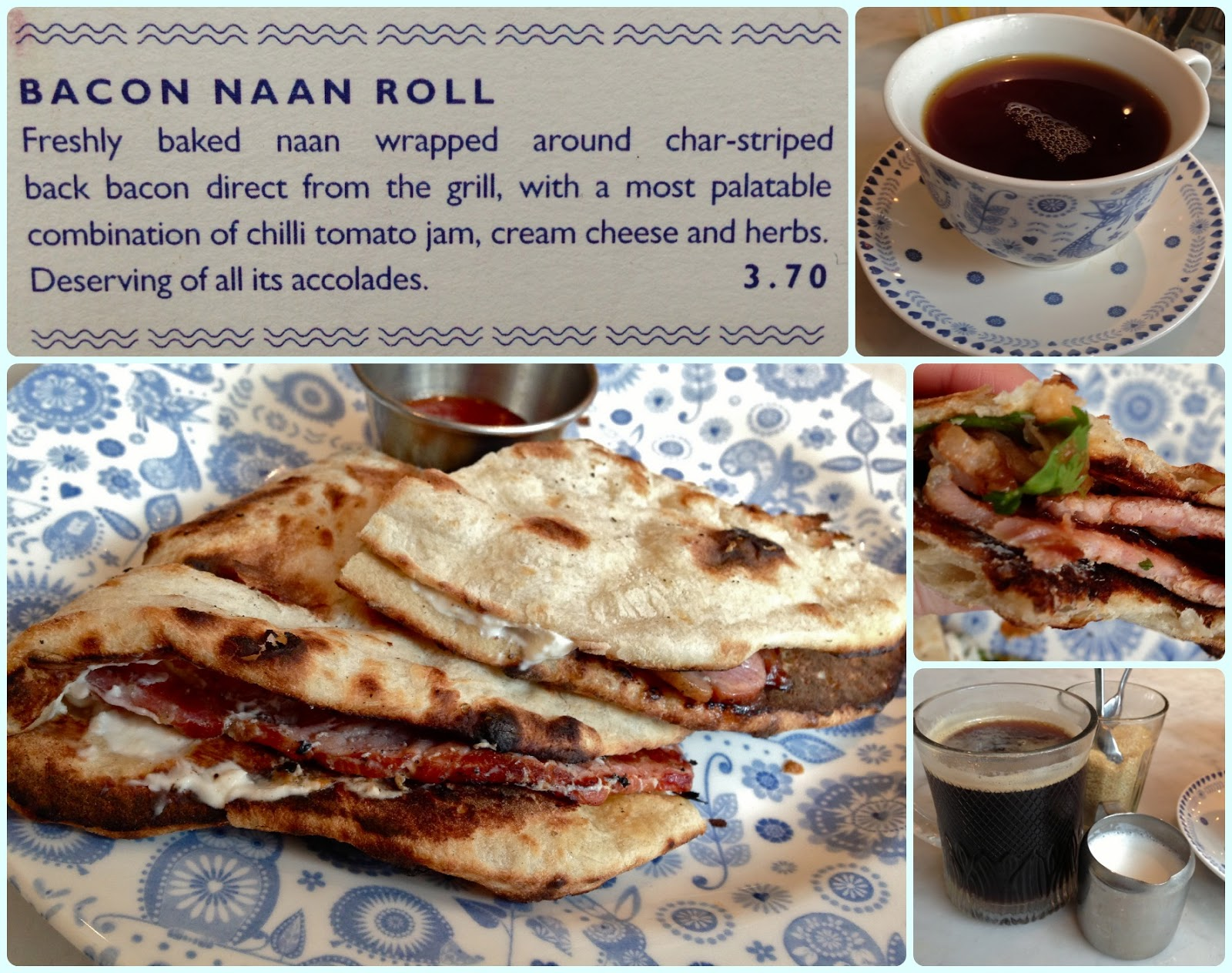 Dishoom covent garden london dollybakes - Dishoom Bacon Naan Roll