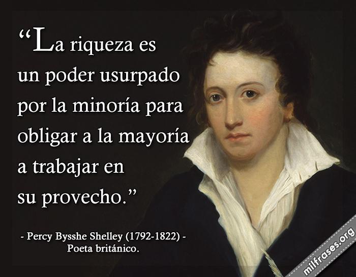 frases de Percy Bysshe Shelley (1792-1822) Poeta británico.
