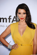 Town Kim Kardashian Unssen Yellow Dress Hottest