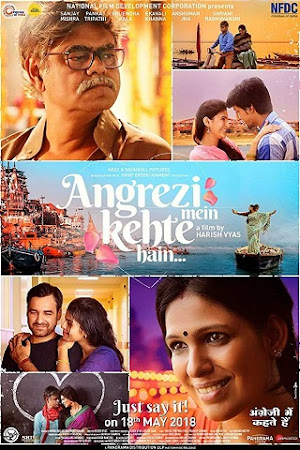 Poster Of Hindi Movie Angrezi Mein Kehte Hain 2018 Full HD Movie Free Download 720P Watch Online