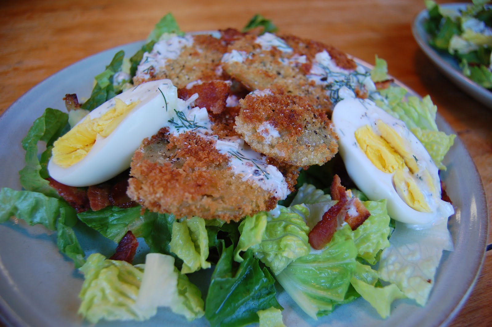 SSFC: Bacon, Lettuce and Fried Green Tomato Salad with Dilly Spring ...
