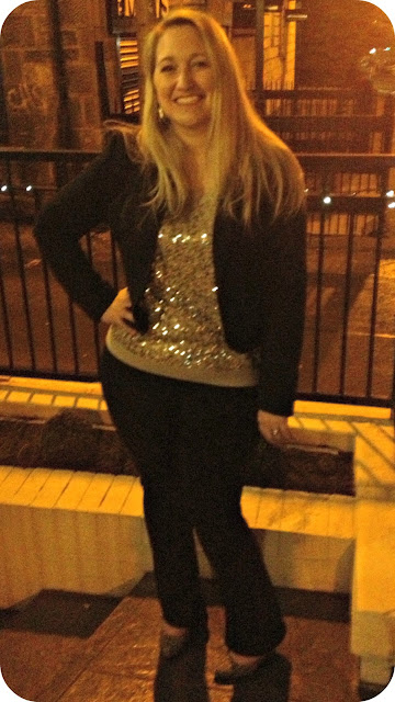 Sequins and Blazer