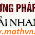 Cach giai nhanh  thi ai hoc mn TOAN, LI, HOA (phng phap, cng thc)