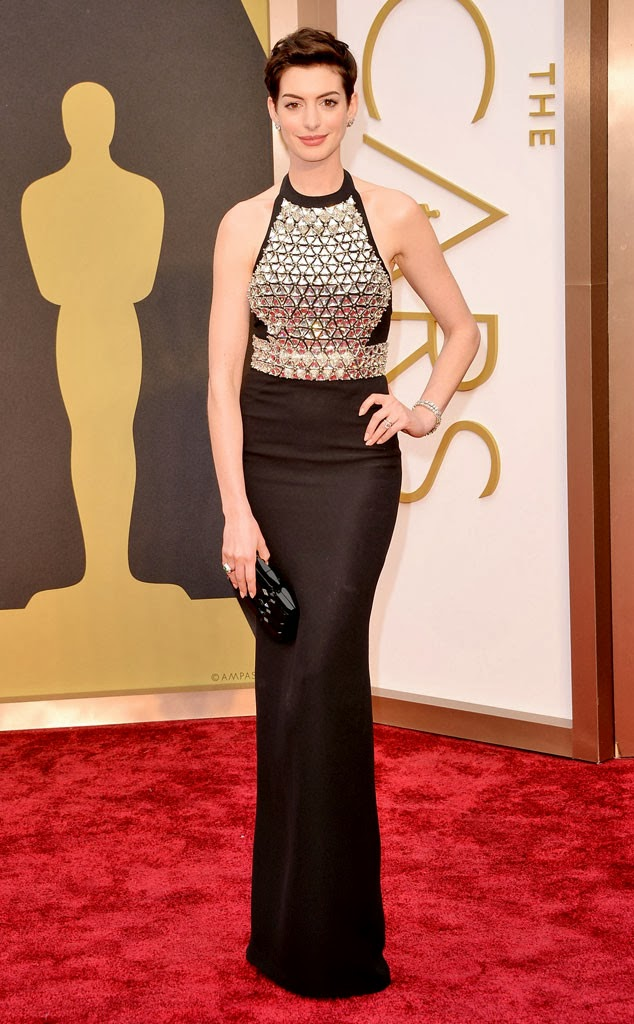 academy awards, 2014, best dressed, worst dressed, red carpet, arrivals, oscars, anne hathaway, gucci