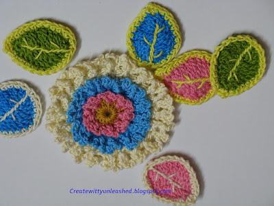 Free pattern Crochet leaves 1