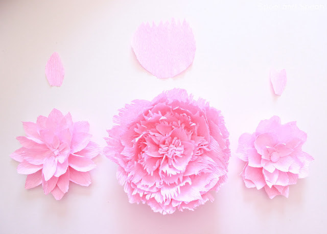 Crepe Paper Flower Tutorial from Spool and Spoon -- perfect alternative to a bow!