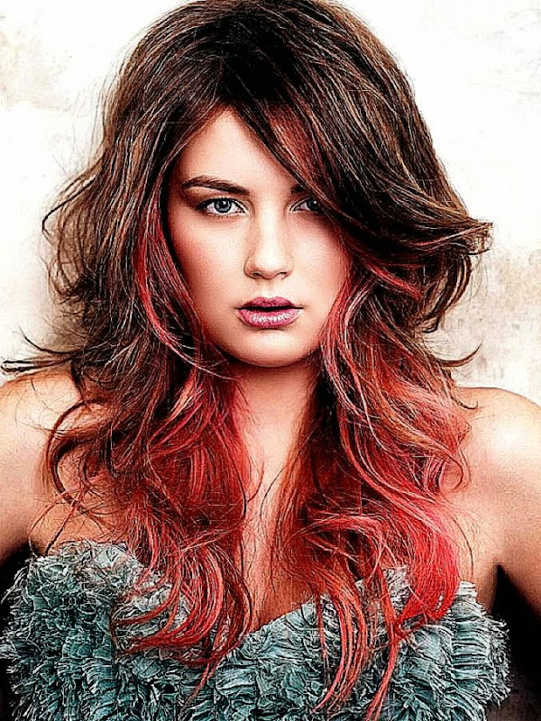 Two Toned Hair Color Pictures Free Coloring Pictures