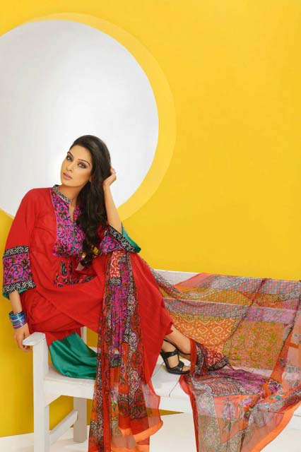 Shirin Hassan Block lawn formal dresses Collection 2013