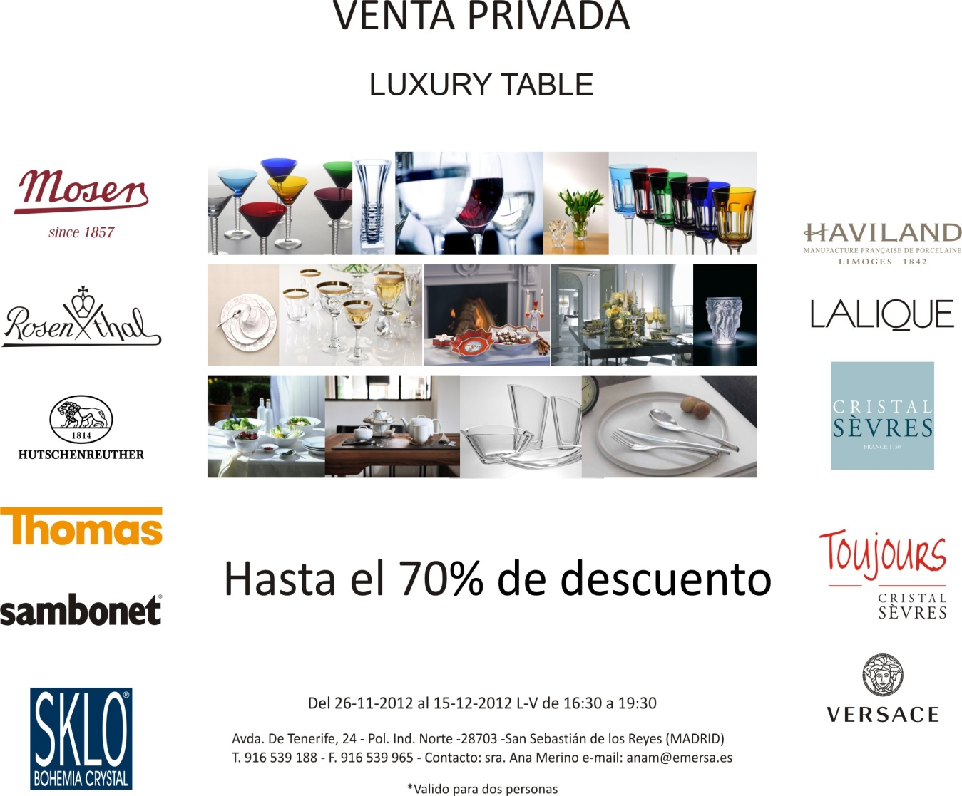 Venta Privada y Exclusiva Luxury Table