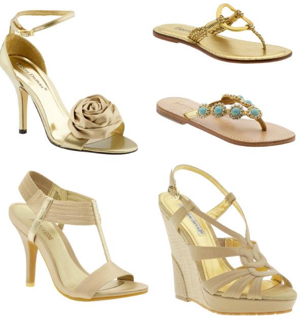 Wedding Lady Light Gold Bridal Shoes