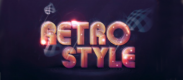 A Lighting Retro Text Effect in Photoshop