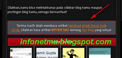 Memberi Kotak Backgroud Internal Link Otomatis