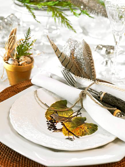 St. Louis interior designer Lynn Eastin sets a festive holiday table