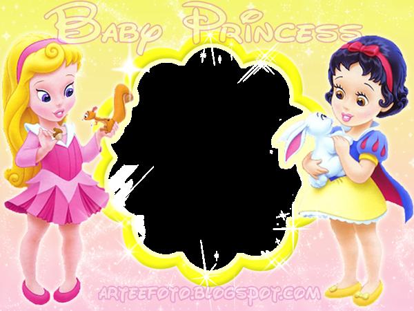 Princesas Disney Bebés: Invitaciones o Marcos de Fotos para ...