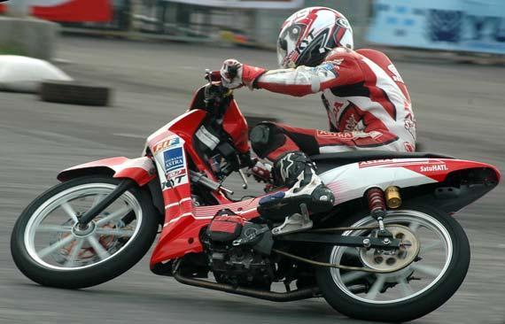 diatas adalah modifikasi honda supra x 125 drag race supra x 125 drag  title=