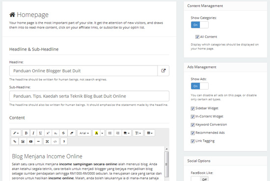 Cara mudah cepat untuk bina laman web affiliate