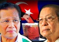 Abdul Ghani Othman dan Lim Kit Siang di Parlimen Gelang Patah