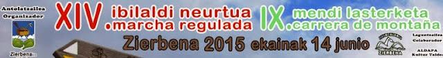 Zierbena organiza su XIV Marcha Regulada y IX Carrera de Montaña