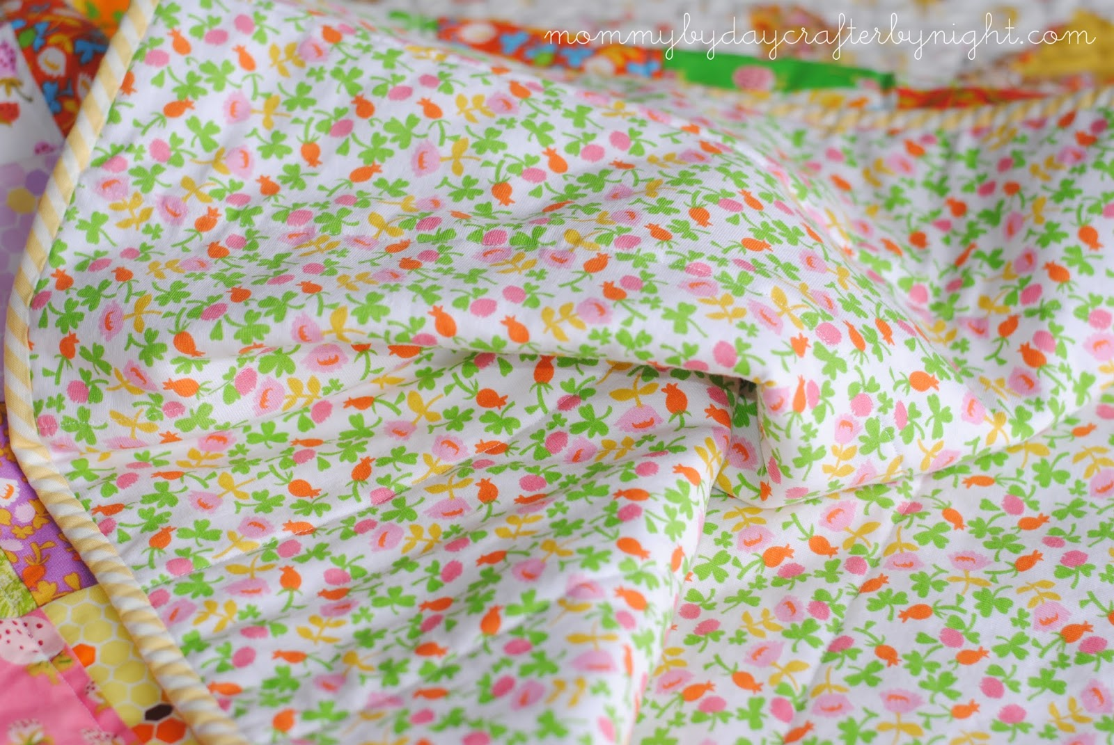 Mommy by day Crafter by night: Briar Rose Baby Quilt with KNIT ... : baby quilt backing - Adamdwight.com