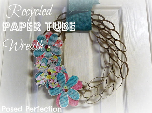 How to Make a Recycled Paper Tube Wreath!