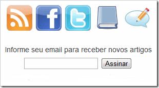 Gadget contador de redes sociais e inscrição de Feeds para Blogger