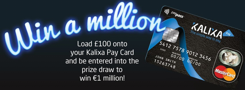 Win a million with Kalixa Pay prepaid MasterCard