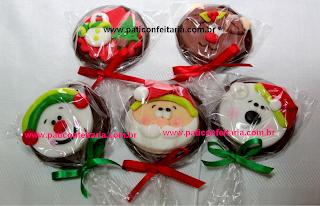 doce pirulito chocolate natal papai noel rena boneco de neve arvore de natal