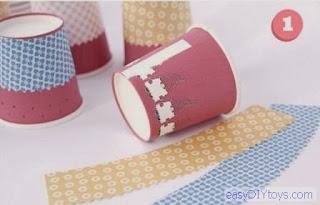 Handmade Paper Cup Light