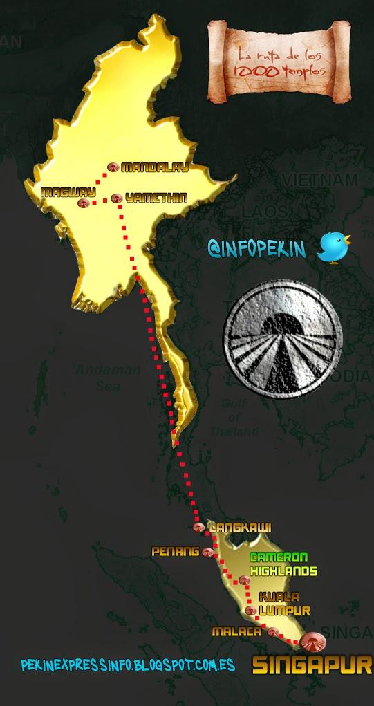 la ruta de los 1000 templos