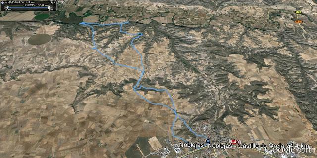 Ruta running Noblejas - Castillo de Oreja y vuelta