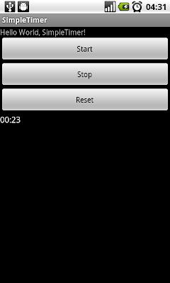 Android 計時器(Chronometer)