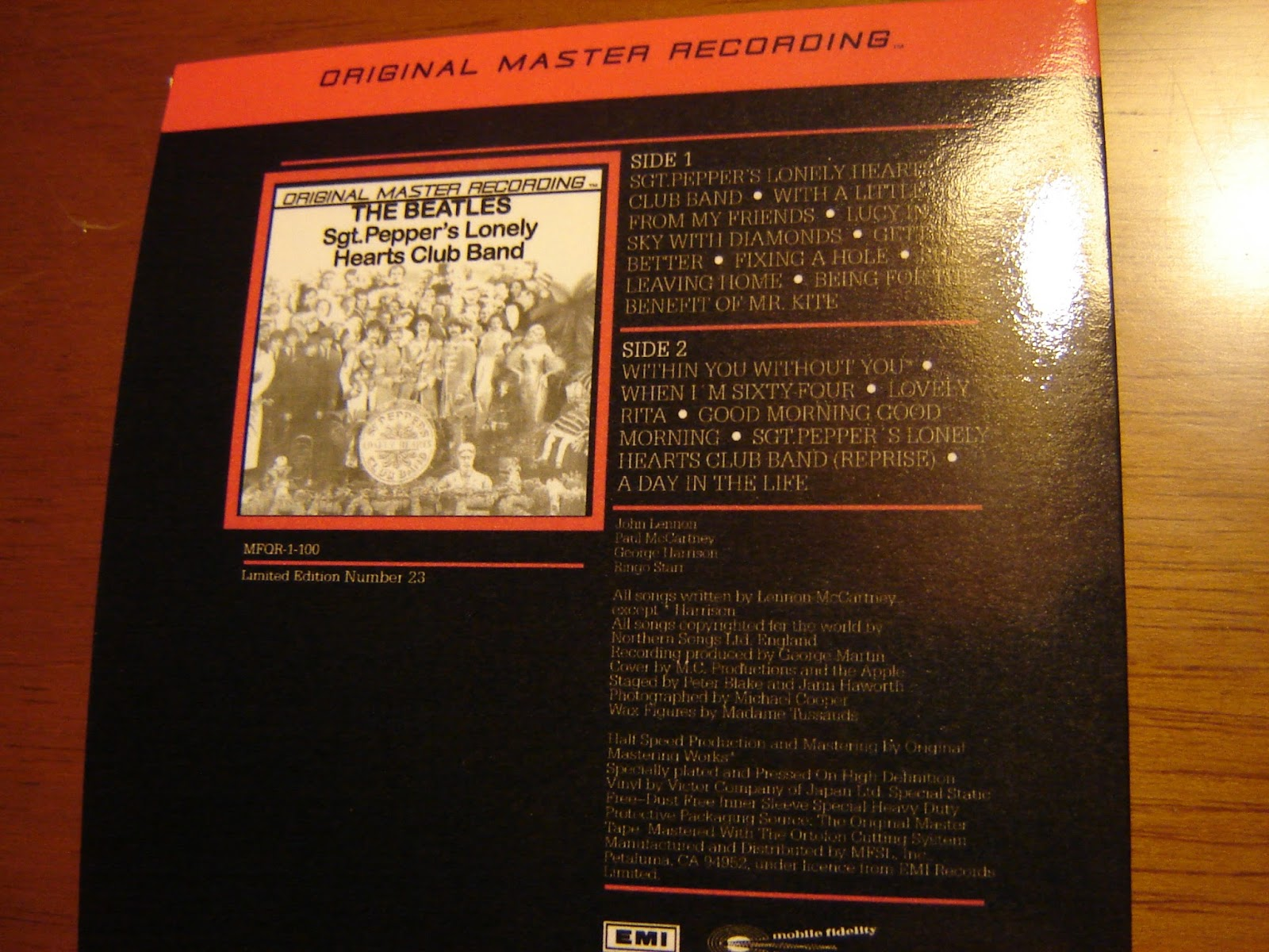 Beatle Collector The Beatles Mfsl 1982 Collection 14 Mini