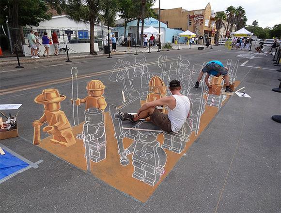 Artists 4 Israel Blog: 3D Chalk Art in Israel