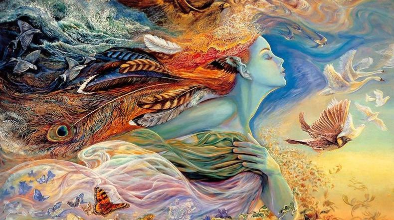 Pinturas de fantasia por Josephine Wall que harán volar tu imaginación