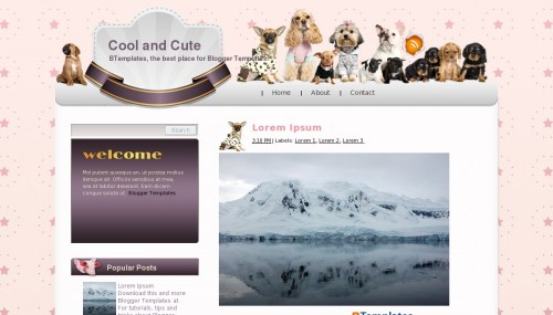 Cute and Cool Blogger Templates