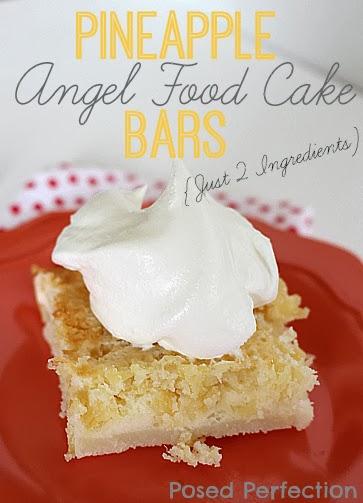 2 Ingredient Pineapple Angel Food Cake Bars- Top 10 Recipes of 2014