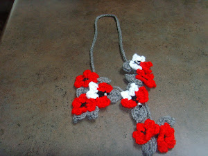 Valentine's Crochet Flower Necklace