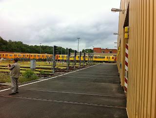 U-Bahn: Eröffnung der U-Bahnwerkstatt Halle 4 in Grunewald