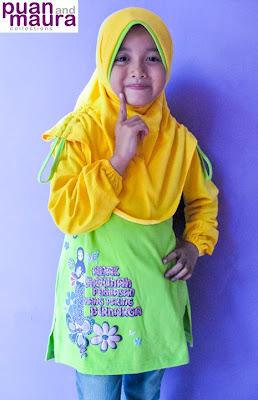 Atasan Kaos + Jilbab Kode AK-KH