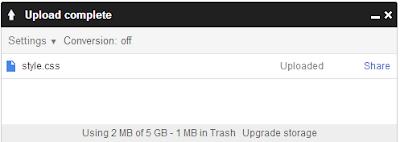 progress upload di google drive