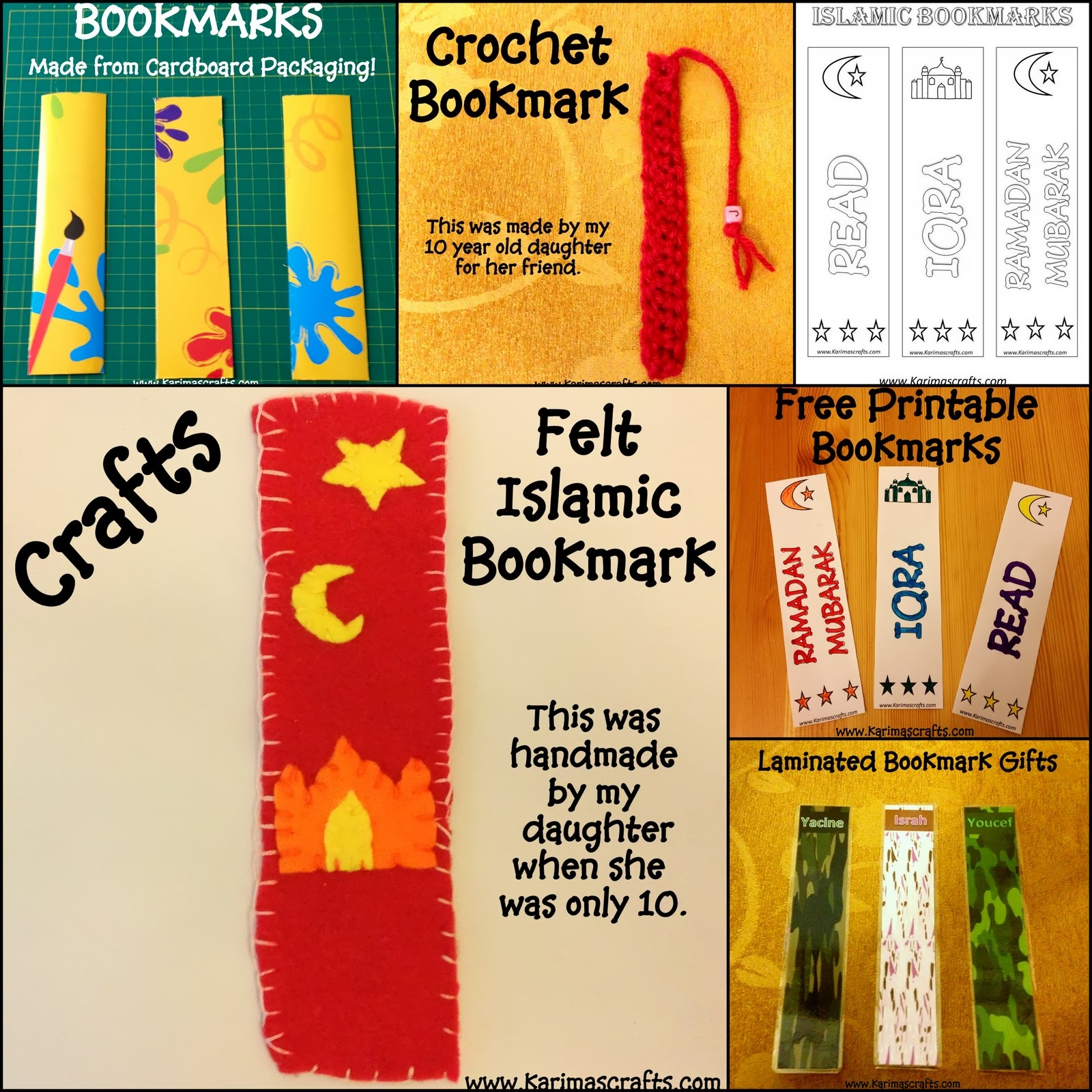 islamic bookmark ramadan crafts muslim