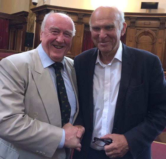 Vince Cable and Gwynoro